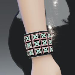 3X Quantum-Pink Silver Trims Go-GLOW Bracelet