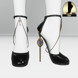 Galaxy cage heels for the h2ai high - black gold