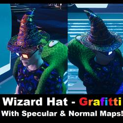 Wizard Hat - Grafitti