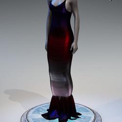 Pentagram Evening Gown [Multi]