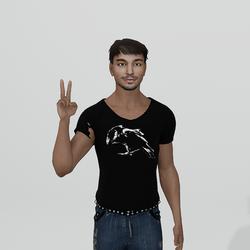 Peace Sign pose Male