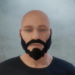 [M] John Wick Beard - Glasses