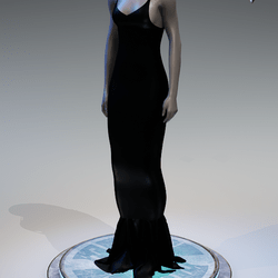 Pentagram Evening Gown [Black]