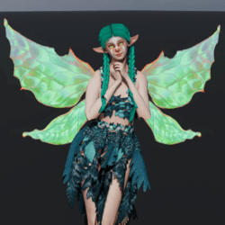 Animated Green Fairy Wings [Necklace Slot]