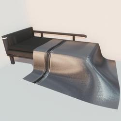 Modern bed - slvr