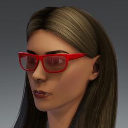 Glasses Nero Hexagon metallic red