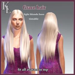 Grace hair -light blonde base