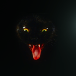 Halloween Devil Cat