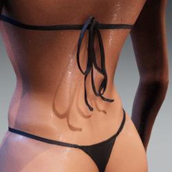 Bad Bunny bikini ties for loose top black