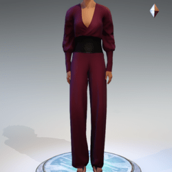 Wrapped Pantsuit - Linen and Leather - Fushia