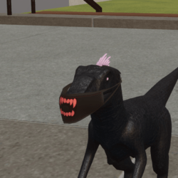 RAPTOR Mask with teeth red