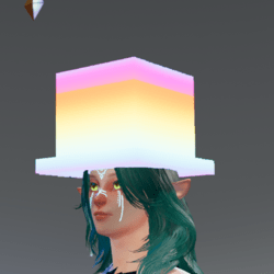 Geometric Cube rave hat