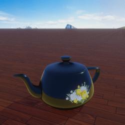 Vintage Yellow Rose Tea pot