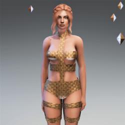 LeeLoo Bandage Bodysuit Bronze