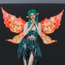 Animated Red Fairy Wings [Necklace Slot]