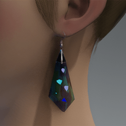 Blue & green emissive crystal earrings