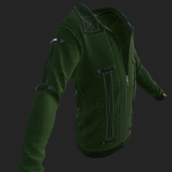 SHUAN JACKET EMISSIVE GREEN