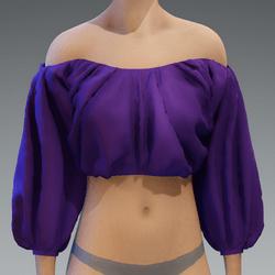 Violet puff top