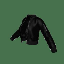 Black Flight Jacket Open (Unzipped)