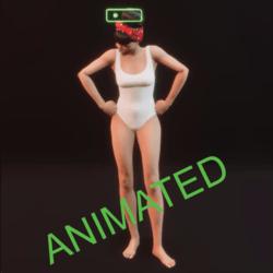 shaking head female animated