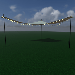 Sun shade with string lights - triangle