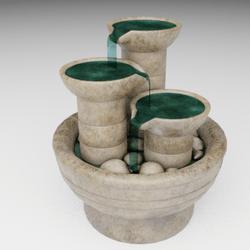 Earthenware fountain