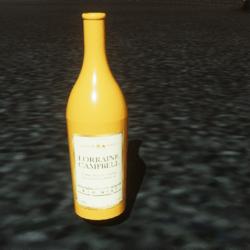 Simple yellow bottle