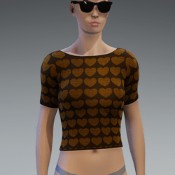 Valentine's Day Heart Top - Burnt Oak