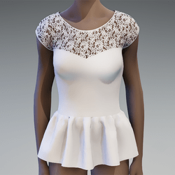 White peplum lace top