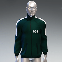 """""""Squid game"""" style sweat jacket male 001"""