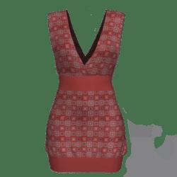 Tube Dress Deep Neck - Squares