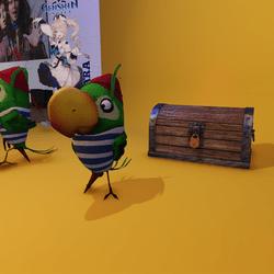 Piraten Papagei