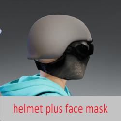 face mask plus helmet