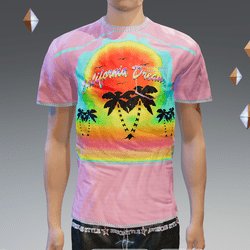 Pink California Dream Pocket T-Shirt - Male