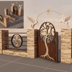 gate and fence modular