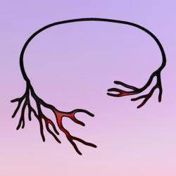 Bare Tree Choker Red