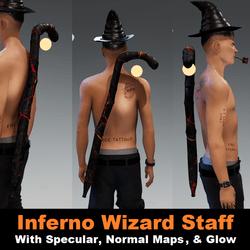 Inferno Wizard Staff